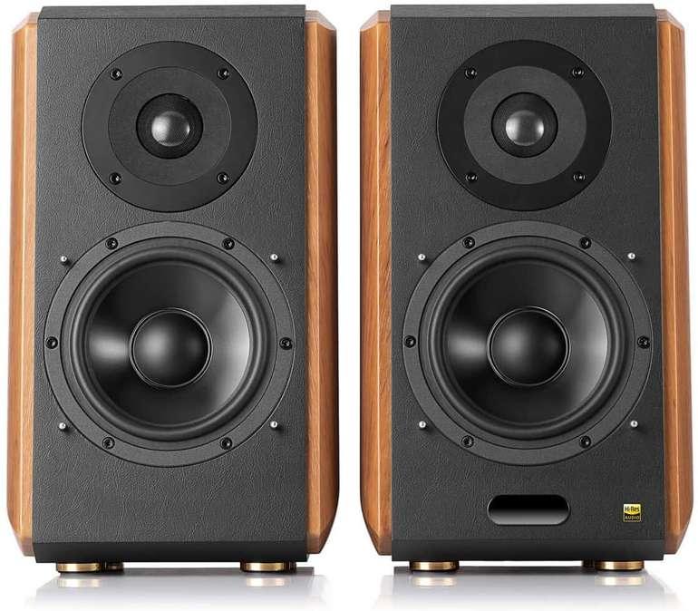 Edifier S1000MKII 2.0 Audiophile aktive Regallautsprecher, 120 Watt Lautsprecher, Bluetooth 5.0 mit aptX HD, optischer Eingang
