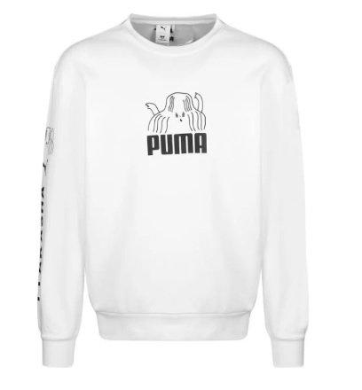 Puma Sweatshirt in schwarz / weiß für 26€ inkl. Versand (statt 45€)
