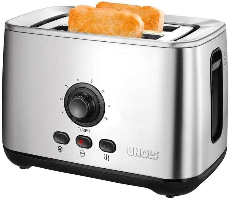 Unold Toaster Turbo (2100W, für 2 Brotscheiben, halbierte Röstzeit, 8 Röstgrade) für 64,89€ inkl. Versand (statt 73€)