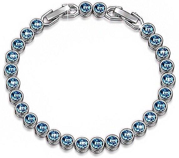 """Susan Y Armband """"Ozean Traum"""" mit blauen Swarovski-Steinen für 11,99€ mit Prime"""