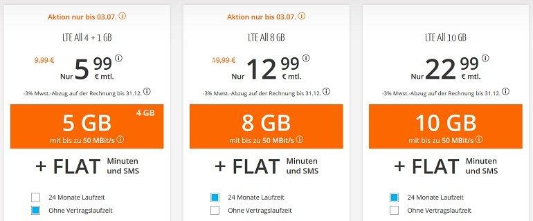 Sim.de o2 AllNet-Flat mit 5GB LTE 2