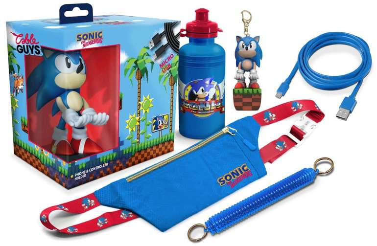 Sonic The Hedgehog Collectable Big Box: Cable Guy, Flasche, Tasche, Schlüsselband, Micro-USB-Kabel für 23,48€