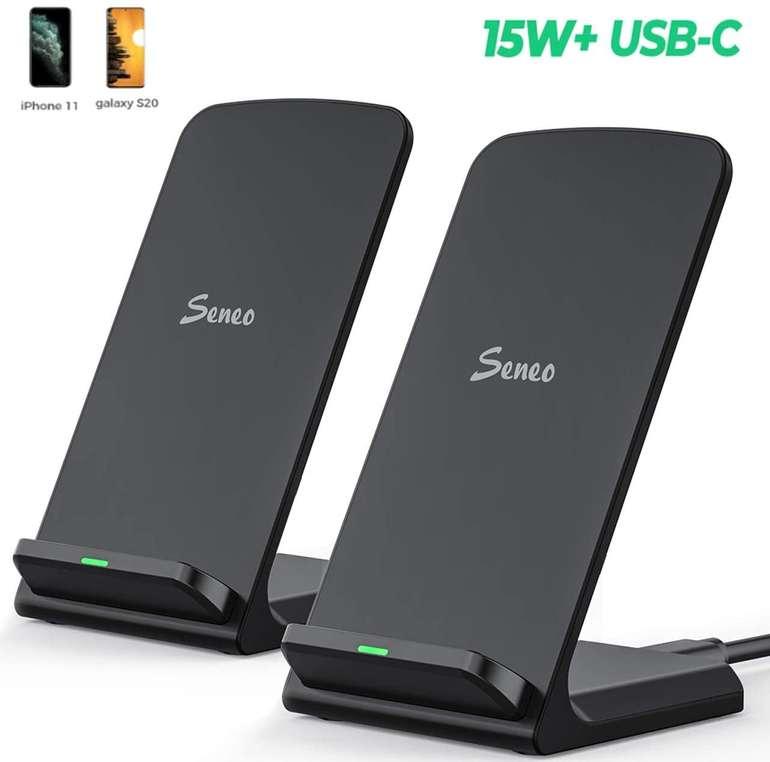 Seneo 15W USB-C Wireless Charger im Doppelpack für 19,99€ inkl. Prime Versand (statt 25€)