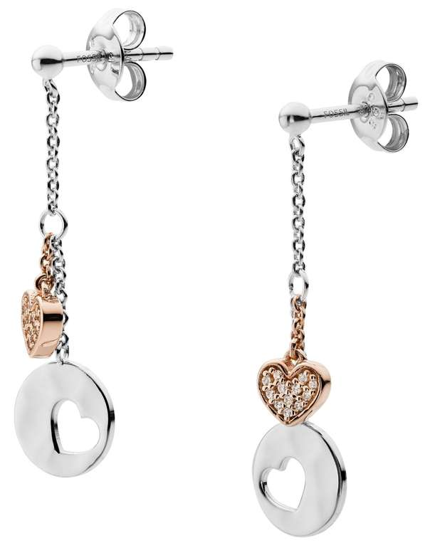 Fossil Damen Ohrringe Hearts (JFS00493998) für 45,50€ inkl. Versand (statt 55€)