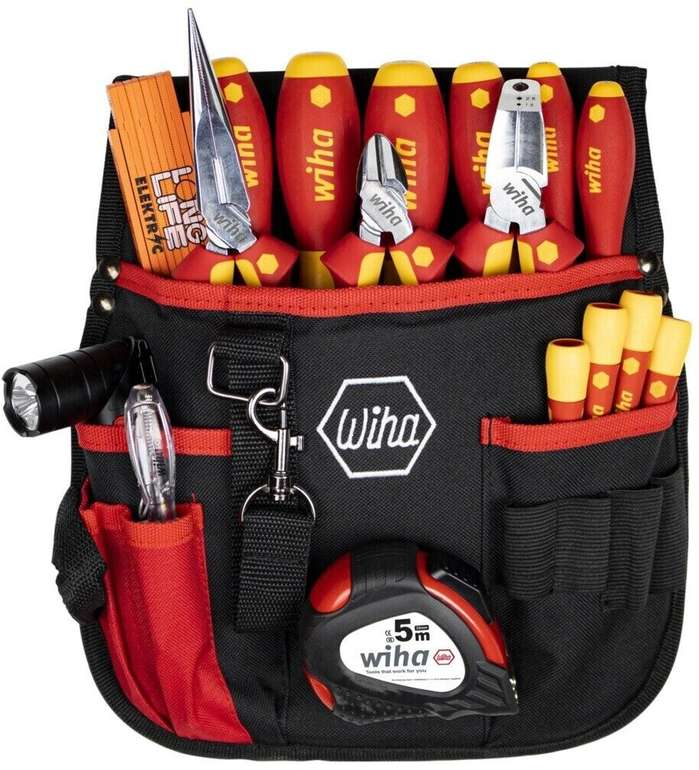 Wiha 44574 Werkzeugsatz mit Gürteltasche (18-teilig) für 180,90€ inkl. Versand (statt 210€)