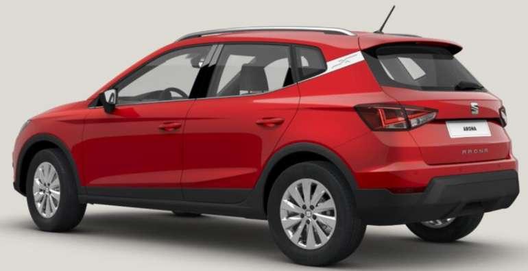Seat Arona Style 1.0 TGI in rot mit 90PS im Privatleasing für 89€ monatlich - LF 0,42