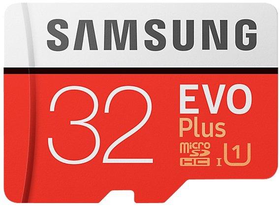 Samsung EVO Plus (2017 / 95 MB/s) microSDHC mit 32GB für 12€ (statt 16€)