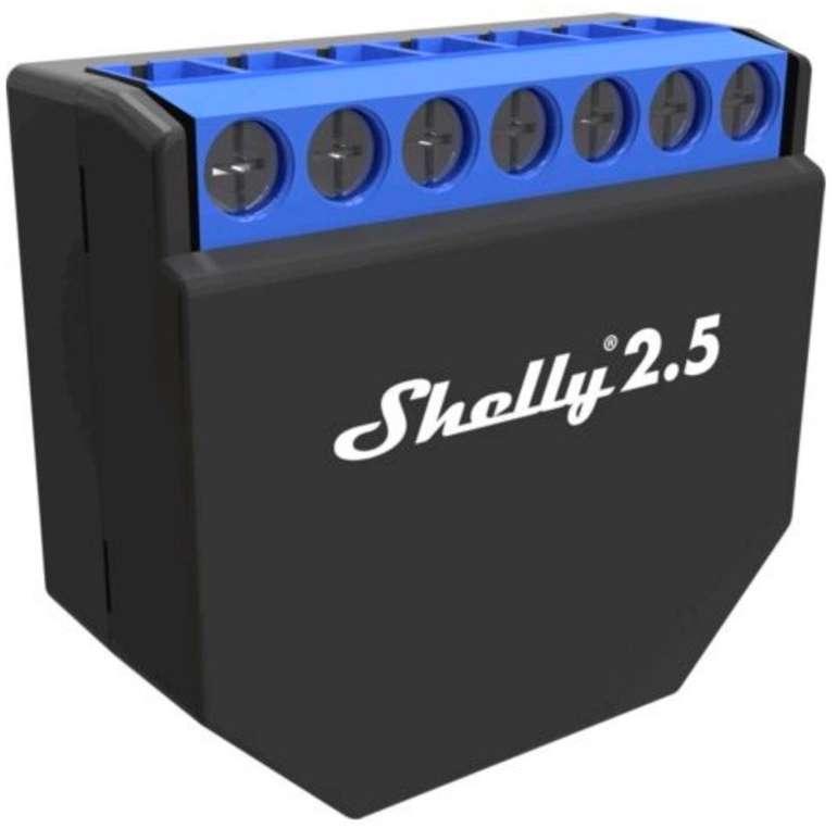 Shelly 2.5PM WLAN-Relais Schalter (kompatibel mit Amazon Echo und Google) für je 18,99€ inkl. Versand (statt 24€)
