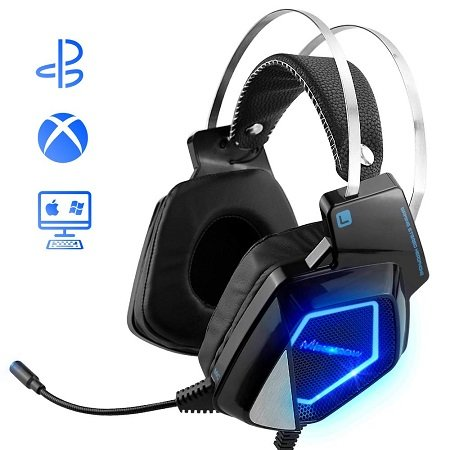 Mbuynow - H830 Gaming Headset mit Mikrofon & LED-Beleuchtung für 16,99€ (Prime)