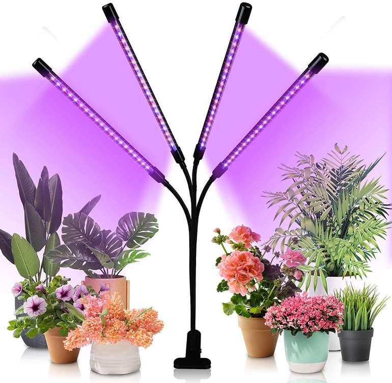 Hengda LED Pflanzenlampen reduziert, z.B. 4-armig 40W für 20,29€ (statt 29€)