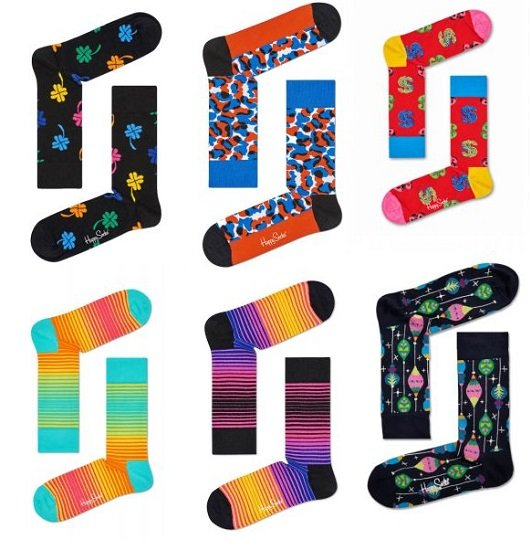 6er Pack Happy Socks in Größe 36 - 40 für nur 19,24€ inkl. VSK (statt 44€)
