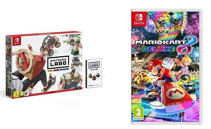 Nintendo Labo Fahrzeug Kit + Mario Kart 8 Deluxe für 64,42€ (statt 102€)