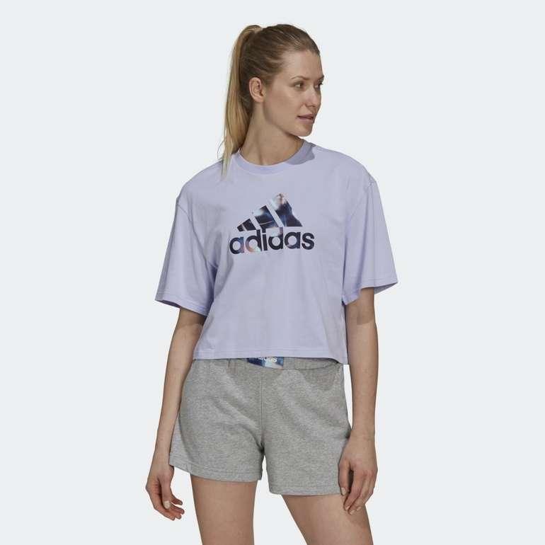 Adidas You For You Cropped Logo Damen T-Shirt in 5 Farben für je 17,50€ (statt 23€) - Creators Club