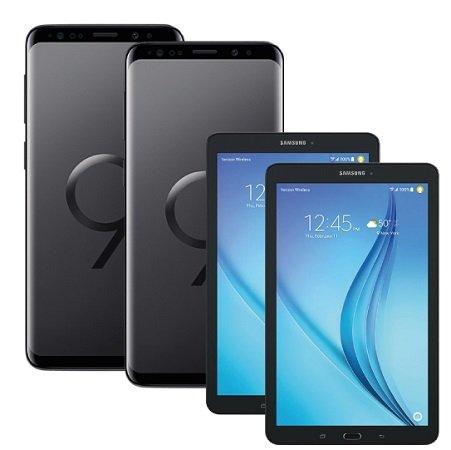 2 Galaxy S9/S9(+) + 2x Galaxy Tab E(+79€) inkl. Vodafone 11GB AllNet 51,99€ mtl.