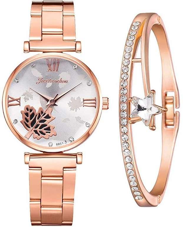 Shuanga Damen Quarz Uhr mit Armband für je 6,20€ inkl. Versand (statt 15€)