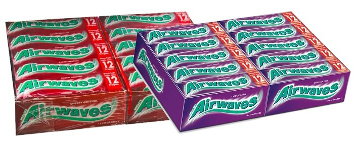 30 X 12er Wrigleys Airwaves Cherry Menthol Oder Cool Cassis