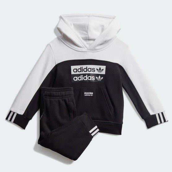 Adidas Hoodie-Set für Kinder in Schwarz/ Weiß für 29,72€ inkl. Versand (statt 50€)