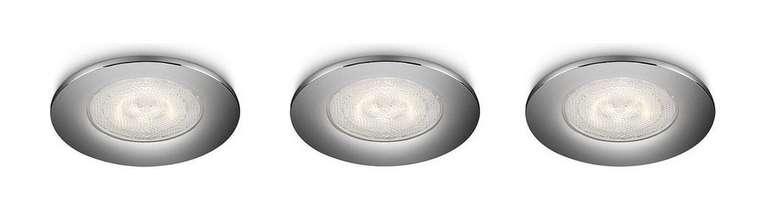 3x Philips Sceptrum LED-Einbauspots in Chrom (270 lm, 3 W) für 18,90€ inkl. Versand (statt 22€)