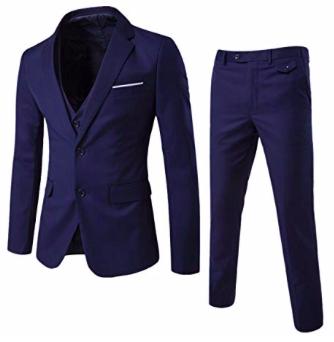 3-tlg. Allthemen Herren Anzug Set (Sakko, Hose und Weste) für 65,79€ inkl. VSK
