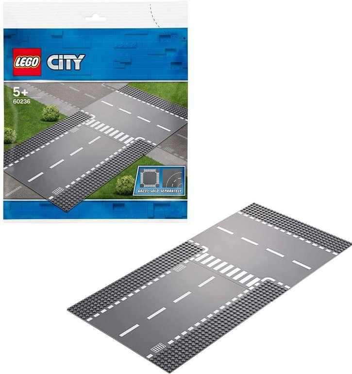 LEGO City 60236 Straßenplatte - Gerade und T-Kreuzung für 6,89€ inkl. Versand (statt 12€)