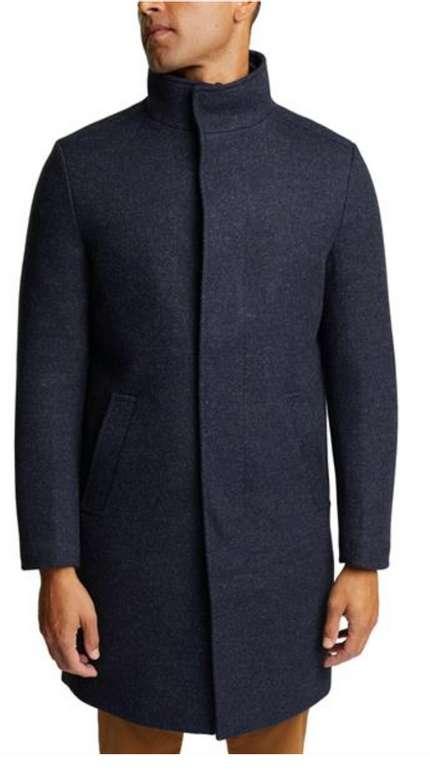 Esprit Herren Mantel Mit Wolle in dunkelblau für 119,90€ inkl. Versand (statt 160€)