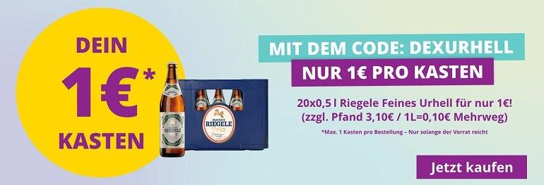 Durstexpress Augsburg Riegele Feines Urhell 20 x 0.5 Liter