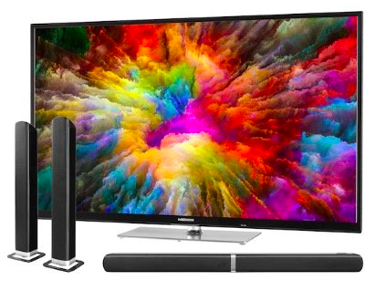 Medion X15022 – 50 Zoll UHD Fernseher + TV Soundbar E64058 für 380€ (statt 516€)