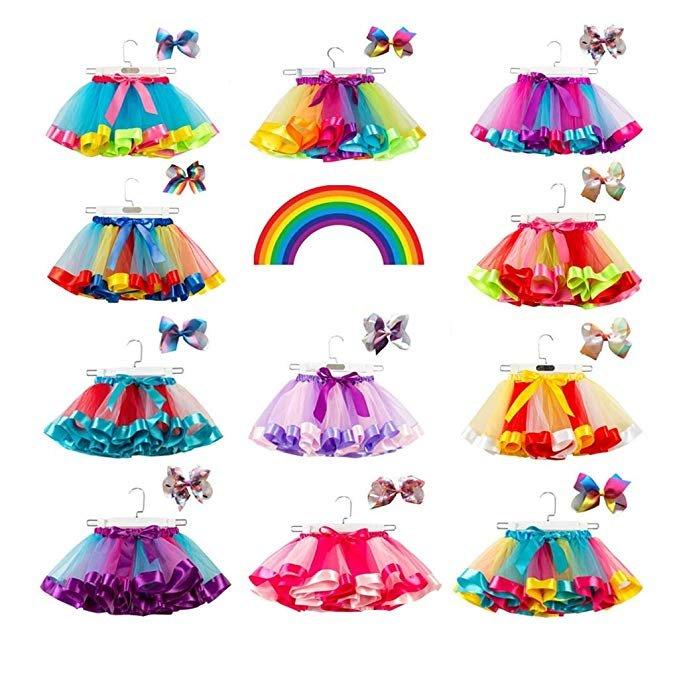 Rytejfes Mädchen Tüllrock & Accessoire im Set (verschiedene Farben) für je 5,70€ inkl. Versand