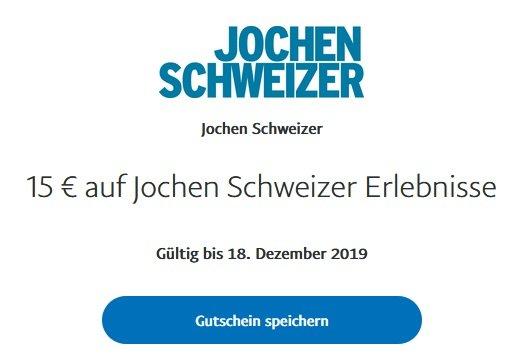 Jochen Schweizer Erlebnisse Paypal Rabatt