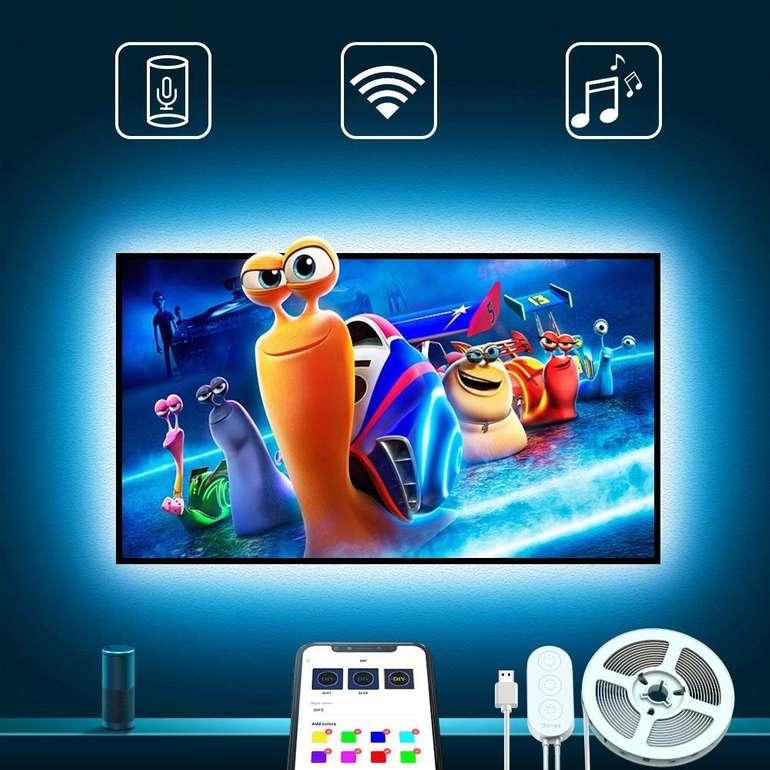 Govee 3m LED TV Hintergrundbeleuchtung mit App & Alexa/Google Assistent kompatibel für 14,39€