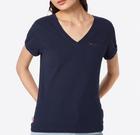 "Tommy Jeans Damen T-Shirt ""TJW Solid V-Neck Tee"" für 25,11€ inkl. Versand"