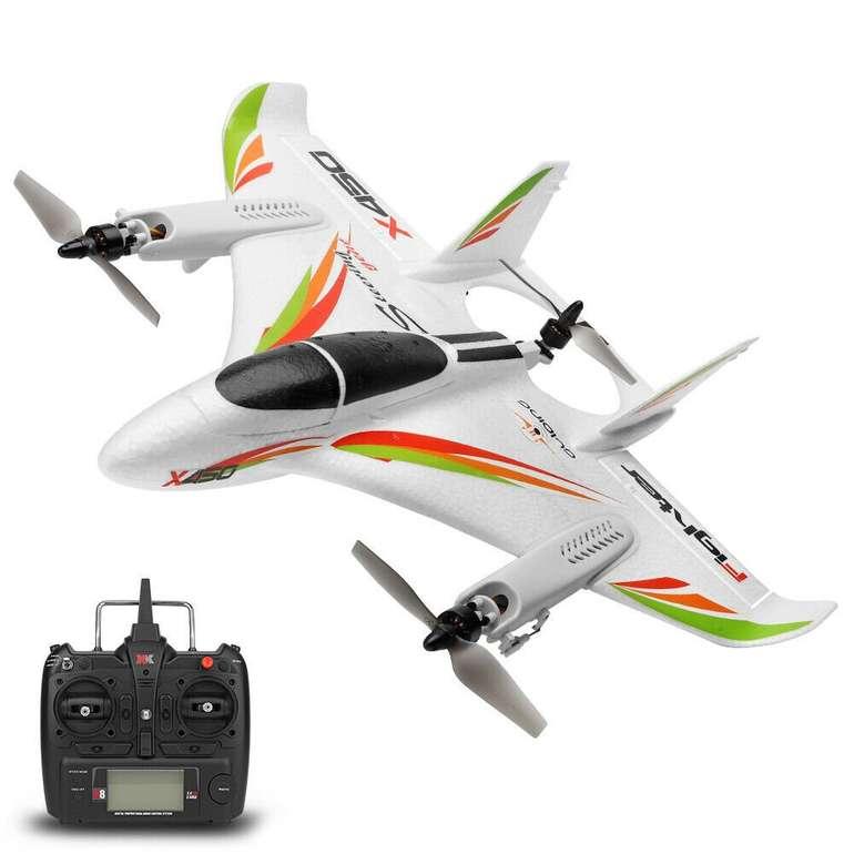 WLtoys XK X450 2.4G 6CH RC Flugzeug für 99,25€ inkl. Versand