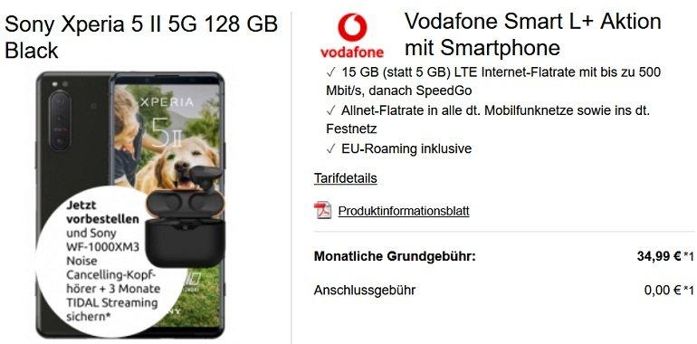 Sony Xperia 5 II Vodafone Smart L+ Allnet-Flat 15GB