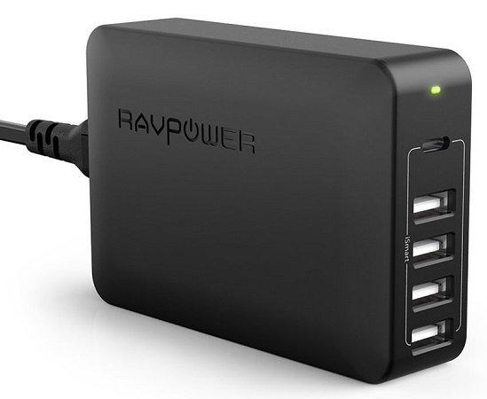 RAVPower 5-Port USB C 60W Type C Ladeadapter für 21,99€ inkl. Versand
