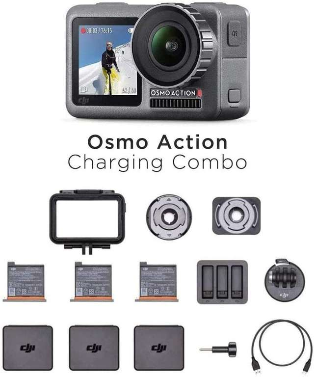DJI Osmo Action Charging Combo für 249€ (statt 315€)