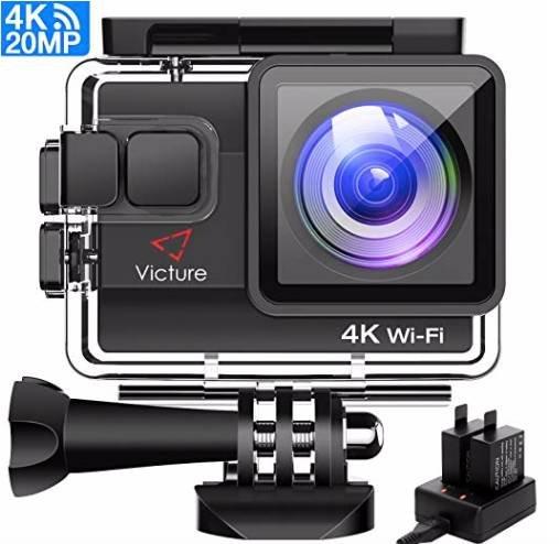 Victure 4K Actioncam mit Ladegerät 2 Akkus und Gratis Zubehör für 32,99€ inkl. VSK