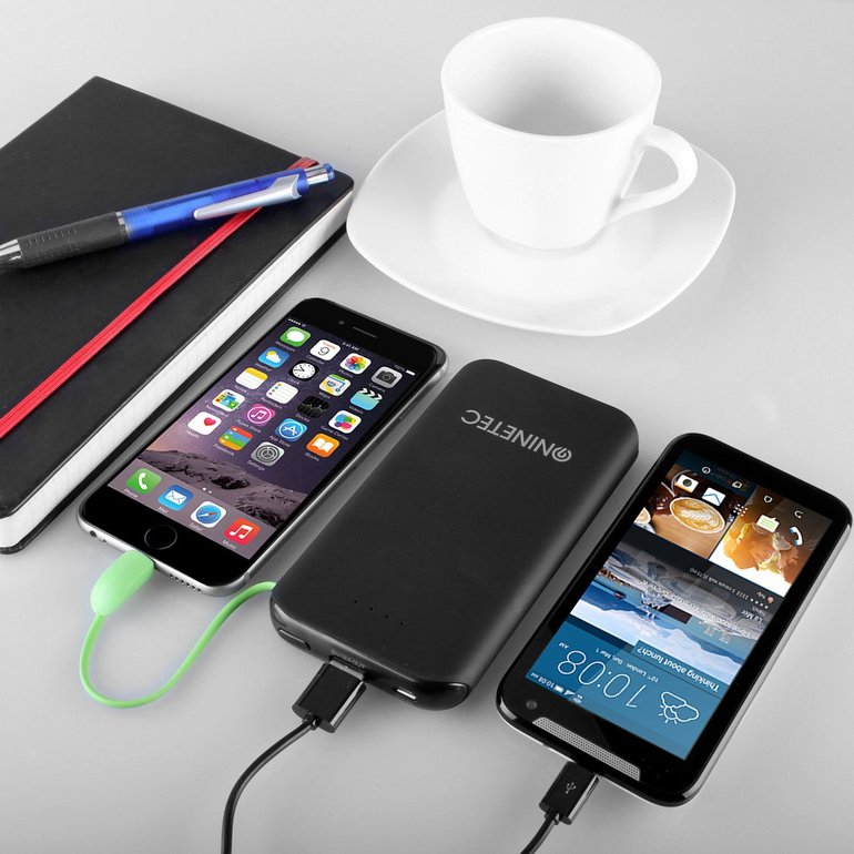 Ninetec NT-610 Powerbank mit 10000mAh, Lightning & Micro-USB o. Type-C für 8,99€