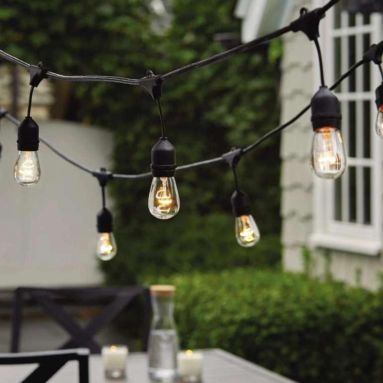 Hengda Glühbirnen Lichterkette (IP65, 9,5 m) für 16,49€ inkl. VSK (statt 31€)