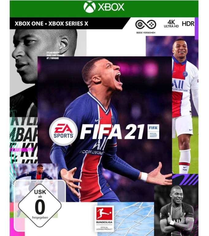 FIFA 21 (Xbox One) - Standard Edition (Retail-Disc / USK) inkl. Series X Upgrade für 31,99€ (statt 40€)