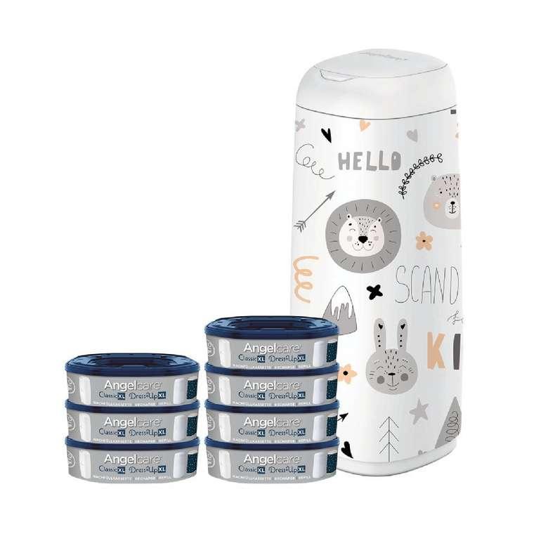 Angelcare Windeleimer Dress Up XL + 7 Nachfüllkassetten + Bezug für 50,59€ inkl. Versand