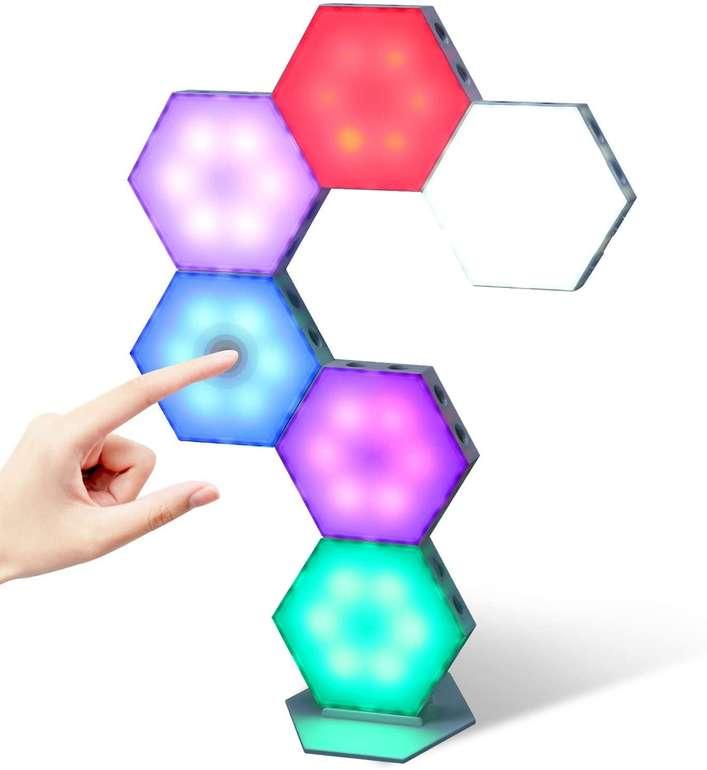Kangtaixin Hexagon RGB LED Leuchten im 6er Pack für 22,49€ inkl. Versand (statt 50€)
