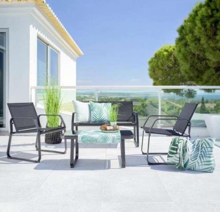 Mömax: 25% Rabatt auf Gartenmöbel + versandkostenfrei - z.B. Loungegarnitur Pentos für 111,75€