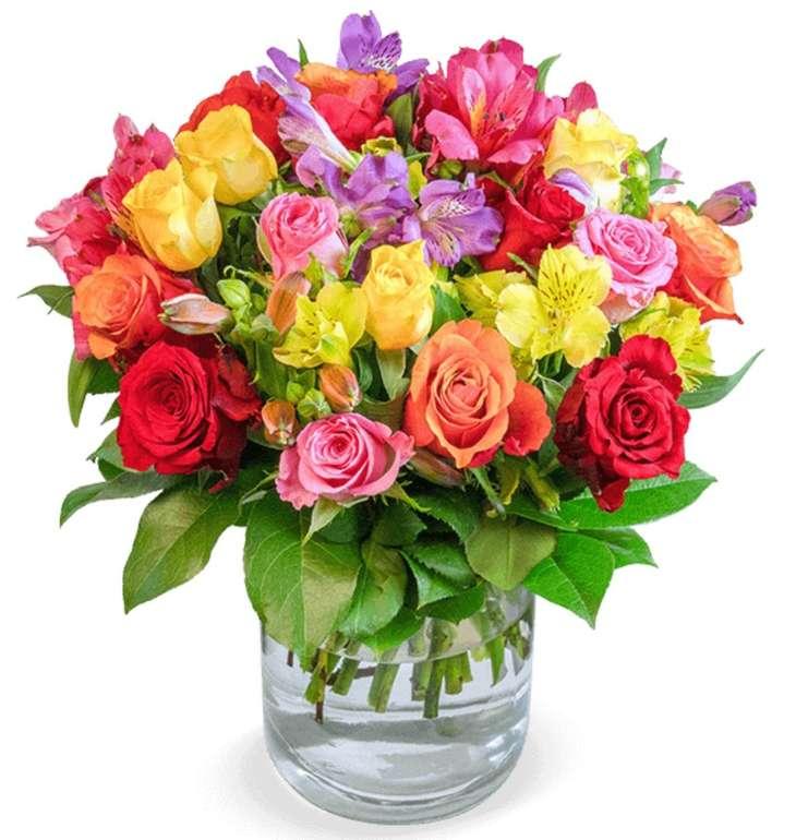 """Rosenarrangement """"Farbspiel"""" mit über 100 Blüten für 21,98€ inkl. Versand"""
