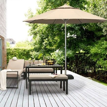 Kettler Easy-Lift Mittelmast Sonnenschirm für 124,99€ inkl. Versand (statt 180€)