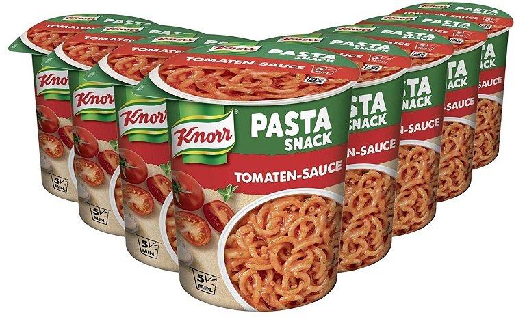 8er Pack (a` 69g) Knorr Pasta Snack Tomaten-Sauce ab 5,45€ (statt 11,12€) - Prime!