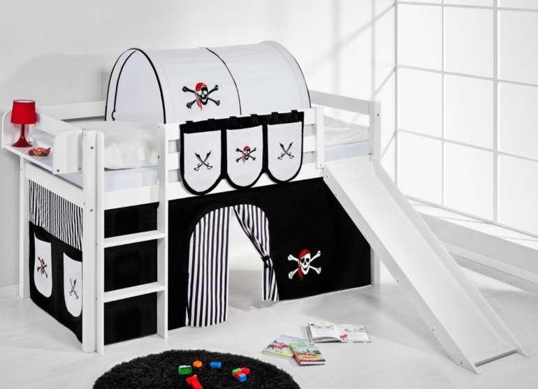 Lilokids Jelle Pirat Spielbett mit Rutsche und Vorhang für 223,90€ inkl. Versand (statt 259€)
