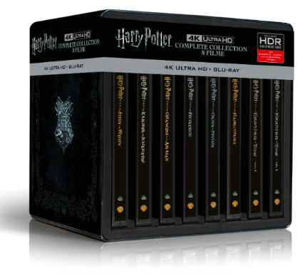 Harry Potter 4K Steelbook Complete Collection (16-Discs) [UHD Blu-ray] für 115€