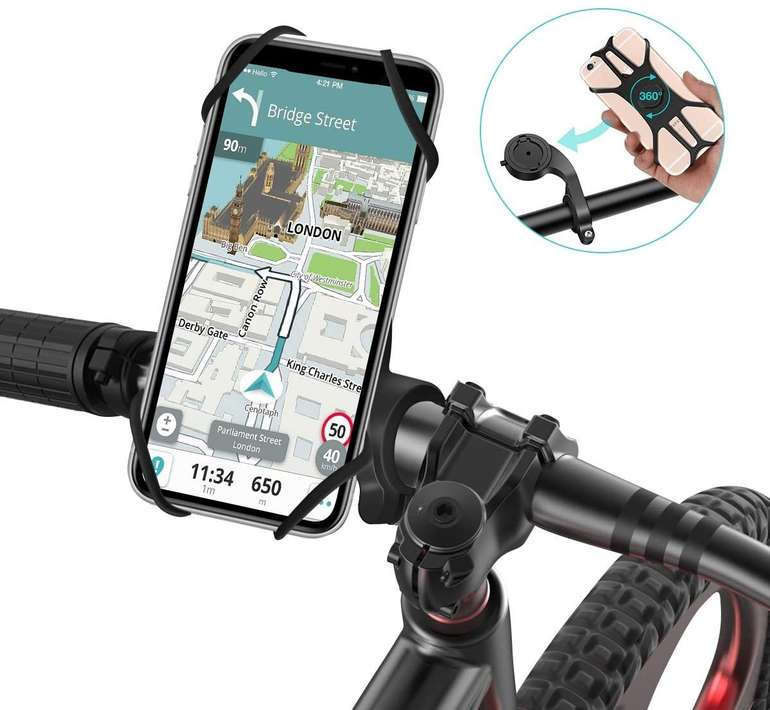 Sawake Handyhalterung Fahrrad - 360 Grad drehbar für 6,28€ inkl. Prime Versand (statt 9€)