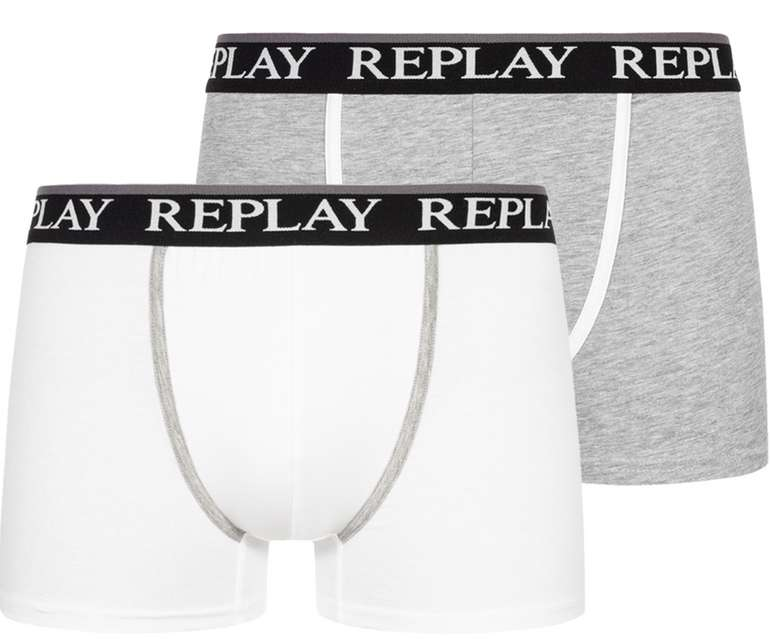 2er Pack Replay Herren Boxershorts (11 Farben) für 13,94€ inkl. Versand (statt 24€)