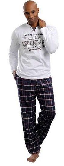2-teiliger H.I.S Herren Pyjama in Marine ab 37,40€ (statt 48€)